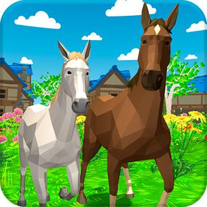 play Horse Family Animal Simulator 3D