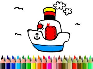 Bts Boat Coloring game
