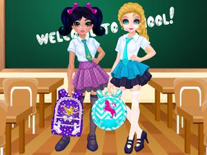 play Jacqueline And Eliza School Bag Design Contest