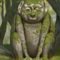 play God Statue Forest Escape