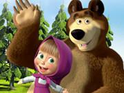 play Masha And The Bear Jigsaw