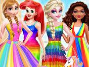 play Princess Rainbow Style Fashion
