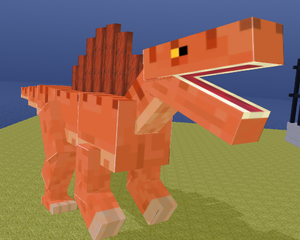 Blocky Dino Park: Spino Strike game