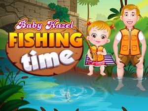 Baby Hazel Fishing Time game