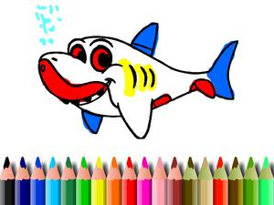 play Bts Shark Coloring Book