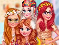 Princesses Back To 70S game
