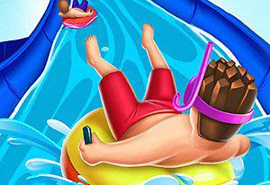 play Slippery Water Slides Aquaparkio