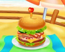 play Huge Super Burger Cooking