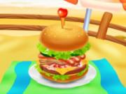 Huge Super Burger Cooking game