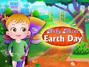 Baby Hazel Earth Day game