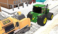Tractor Towing Train game