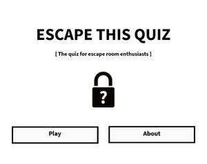 Escape This Quiz game