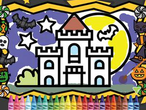 play Kids Coloring Halloween
