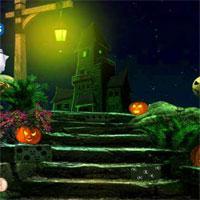 play Green Halloween Ghost