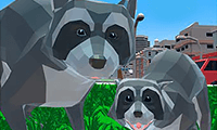play Raccoon Adventure: City Simulator 3D