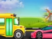 play Supercar And Bus Washing Salon