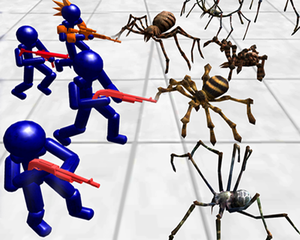 Stickman Spiders Battle Simulator game