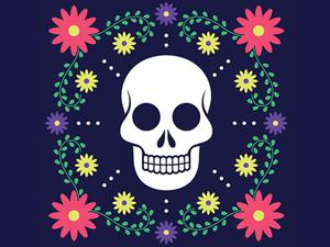 Colorful Skull Jigsaw game