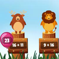 Jungle-Balloons-Addition game