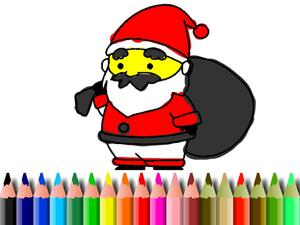 play Bts Santa Claus Coloring