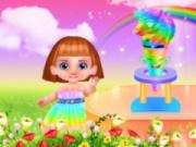 play Unicorn Rainbow Ice Cream Cone Cooking