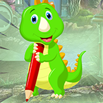 play Writing Green Dinosaur Escape