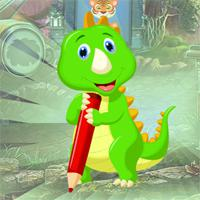 play Games4King Writing Green Dinosaur Escape