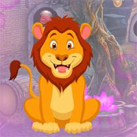 play Games4King Awe Lion Escape