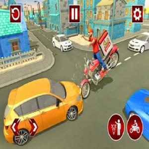 Fast Pizza Delivery Boy Game 3D game