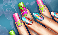 play Floral Real Life Manicure