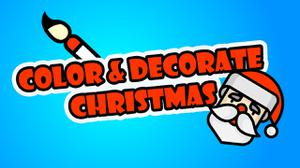 Color And Decorate Christmas game