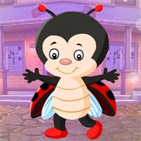 Games4King Little Beetle Girl Escape game
