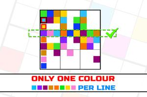 Only 1 Color Per Line game