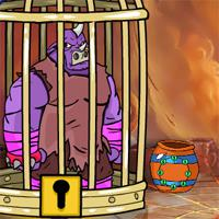 Games2Jolly The Rhinoceros Warrior Escape game