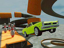 play Crazy Car Crash Stunts Bowling Edition