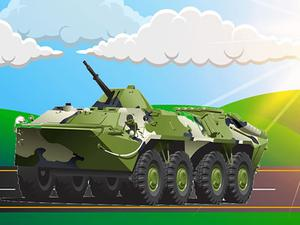 play Military Vehicles Jigsaw