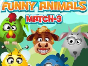 play Funny Animals Match 3