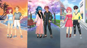 play Romantic Anime Couples-Dress Up