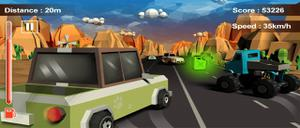play Furious Road Game : Low Poly Car Racing