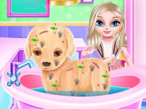 play Baby Elsa Puppy Surgery