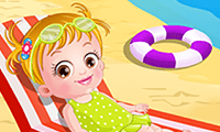 play Baby Hazel At The Beach