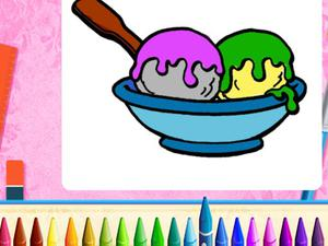play Online Ice Cream Coloring