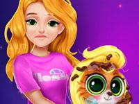 Blonde Princess Kitty Rescue game