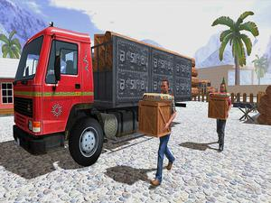 play Asian Offroad Cargo Truck Driver