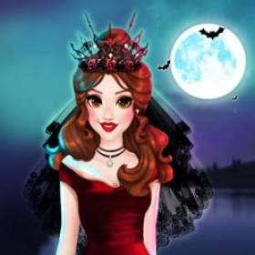 play Princess Vampire Wedding Makeover - Free Game At Playpink.Com