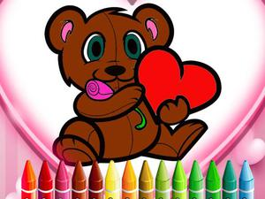 play Animals Valentine Coloring
