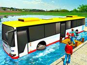 play Floating Water Bus Racing Game 3D