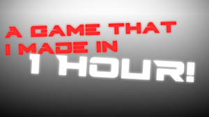 A Survival Game Made In 1 Hour! game