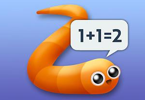 Math Slither game