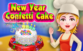 New Year Confetti Cake - Free Game At Playpink.Com game